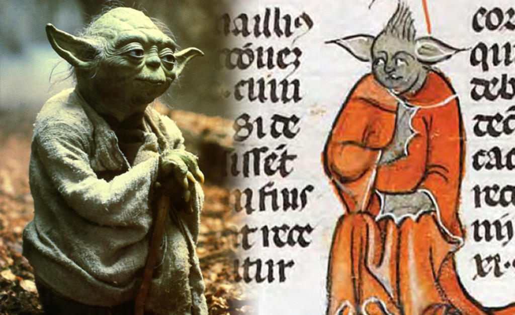 El maestro Yoda de 'Star Wars' encontrado en un manuscrito medieval (Video)
