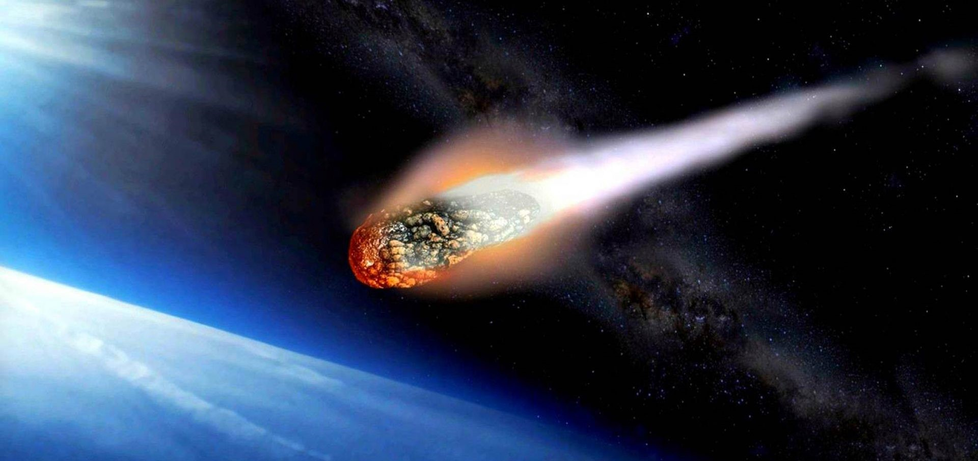 Asteroid Burn In The Earths Atmosphere Hd Wallpaper For