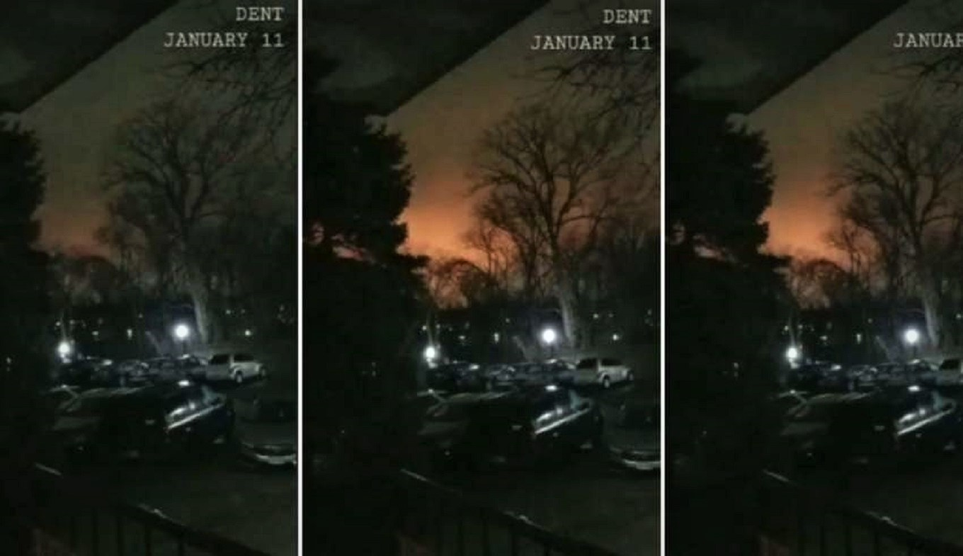 Destellos rojos en el cielo causan alerta en Ohio, EE.UU. (Video)